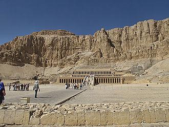Deir el-Bahari - Image: 20111106 Egypt 0879 Thebes Deir el Bahri