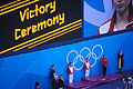 2012 Summer Olympics Women's Springboard Victory Ceremony 1.jpg
