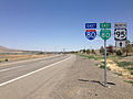 2014-06-12 12 57 05 Signs for Interstate 80, Business Loop 80 and U.S. Route 95 along the ramp from Exit 176 along eastbound Interstate 80 and northbound U.S. Route 95 in Winnemucca, Nevada.JPG
