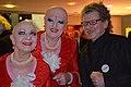 2014 Abschied von Ulrich Krempel, 01, (020c) Eva & Adele sowie Professor Ulrich Krempel, Direktor vom Sprengel Museum Hannover am ersten Abend des Abschieds.jpg
