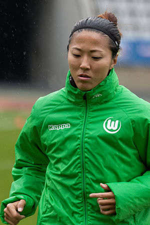 Yūki Nagasato - Nagasato playing for Wolfsburg in 2015