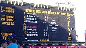 2015 SANFL Grand Final - Image: 2015 SANFL Grand Final scoreboard