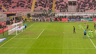 M'Baye Niang - Niang about to take out a penalty during the Serie A Game AC Milan – Crotone in December 2016