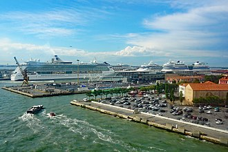 Cruise ships at the passenger terminal in the Port of Venice (Venezia Terminal Passeggeri) 2017 06 Venezia Terminal Passeggeri Terminal Passeggeri 2860.jpg