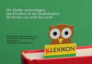 Klexikon - The Klexikon logo displays an owl as a symbol of wisdom and knowledge.