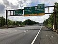 2018-05-20 09 55 28 View south along New Jersey State Route 444 (Garden State Parkway) just north of Exit 129 (Interstate 95-New Jersey Turnpike, U.S. Route 9, New Jersey State Route 440, Interstate 287) in Woodbridge, New Jersey.jpg