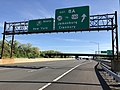 2018-05-21 08 25 04 View north along Interstate 95 (New Jersey Turnpike) just south of Exit 8A (New Jersey State Route 32 to U.S. Route 130, Jamesburg, Cranbury) in Monroe Township, Middlesex County, New Jersey.jpg