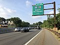 2018-07-17 07 43 26 View south along New Jersey State Route 444 (Garden State Parkway) between Exit 147 at Exit 145 in East Orange, Essex County, New Jersey.jpg