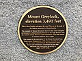 2018-09-09 15 24 35 Plaque on the summit of Mount Greylock in Adams, Berkshire County, Massachusetts.jpg