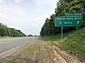 2019-06-05 15 27 35 View south along Interstate 795 (Northwest Expressway) at Exit 4B-A (Owings Mills Boulevard, Metro) in Owings Mills, Baltimore County, Maryland.jpg