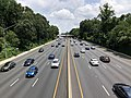 2019-07-11 13 21 39 View east along Interstate 495 (Capital Beltway) from the overpass for Linden Lane in Silver Spring, Montgomery County, Maryland.jpg