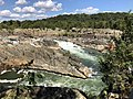 2019-09-07 15 10 28 View east-northeast towards the Great Falls of the Potomac River from Overlook 1 about 100 feet downstream of the falls within Great Falls Park in Great Falls, Fairfax County, Virginia.jpg
