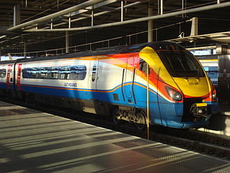 Diesel multiple unit - East Midlands Trains Class 222 at London St Pancras