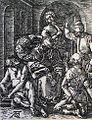 240 Life of Christ Phillip Medhurst Collection 4491 High priest rent his clothes Mark 14.63 Durer.jpg