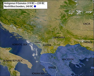 Antigonus II Gonatas - northern border at 240 bc
