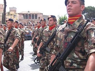 1st San Marco Regiment - A detachment of the Grado battalion parading on 2 June 2007