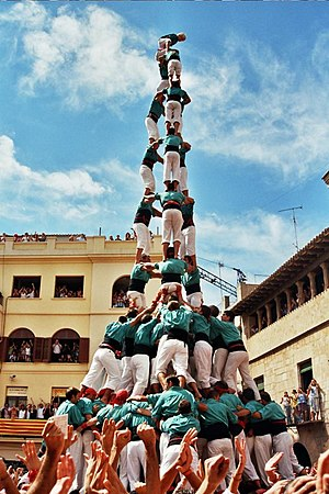 Collaboration - Catalan castellers collaborate, working together with a shared goal