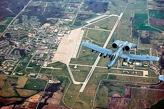 442d Operations Group - A 303rd Fighter Squadron A-10 over Whiteman Air Force Base
