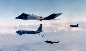 4450th Tactical Group - An F-117A and A-7D refueling over the Nevada desert