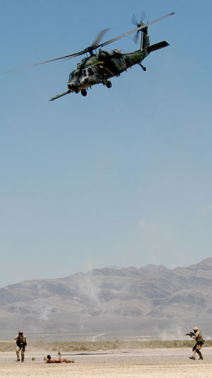 58th Rescue Squadron - Pararescuemen from the 58 RQS participate in an exercise at Nellis AFB.