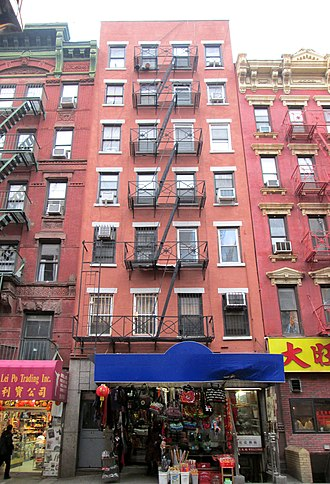 Mott Street - Contemporary view of 65 Mott Street, considered one of Chinatown's first tenements