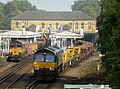 66168 on 6N32 and 66850 with 6C01 in possession at Bickley (21915048016).jpg