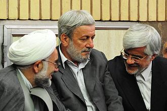 Mohammad Reza Aref - Aref during a campaign for supporting Green Movement in June 2009