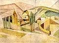 81 - Village cubiste - Georges Gaudion - Aquarelle sur papier - Musée du Pays rabastinois - inv.D.2006.3.4.jpg