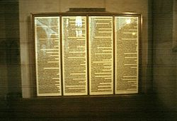 912u Luther's 95 Theses, Schlosskirche, Wittenberg, GER,