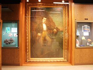 A. E. Seaman Mineral Museum - Portrait of Douglass Houghton in the museum