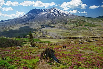 Mount St. Helens National Volcanic Monument - Mount St. Helens from Johnston Ridge Observatory