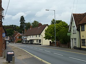 Long Stratton - Image: A140 in Long Stratton looking North East