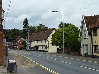 Long Stratton Town in Norfolk