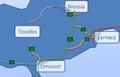 A1 Motorway Cyprus map.png