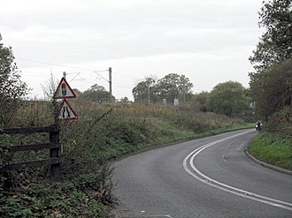 A535 road - Approaching Corbishley Bridge