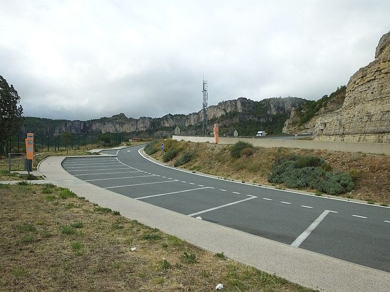 Aire de Belvédère de l' Escalettes, south bound before J51on the A75 autoroute in Hérault.