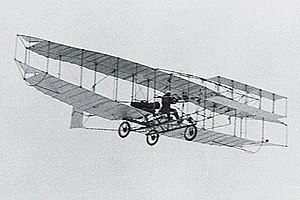 The AEA Silver Dart in flight, J.A.D. McCurdy ...