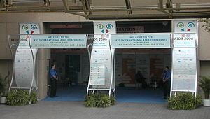 XVI International AIDS Conference, 2006 - One of the entrances to the Metro Toronto Convention Centre during AIDS 2006