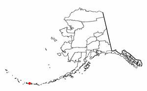 Andreanof Islands - Location of Andreanof Islands in the Aleutian Islands archipelago, Alaska.