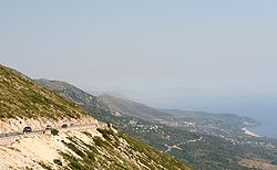 The region of Himara seen from the Ceraunian mountains