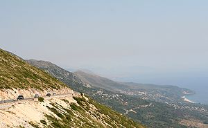 Himara - The region of Himara seen from the Ceraunian Mountains