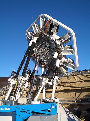 AMiBA - The rear of the hexapod mount