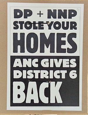 English: ANC election poster, trying to make p...