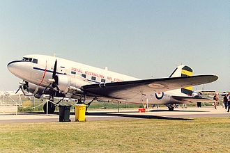 Australian International Airshow - C-47 Dakota A65-95 of the ARDU in 1992