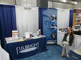 Fulbright Program - 2008 conference booth