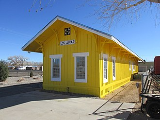 National Register of Historic Places listings in Valencia County, New Mexico - Image: ATSF Railroad Depot, Los Lunas NM