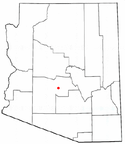Location map of Phoenix, Arizona.