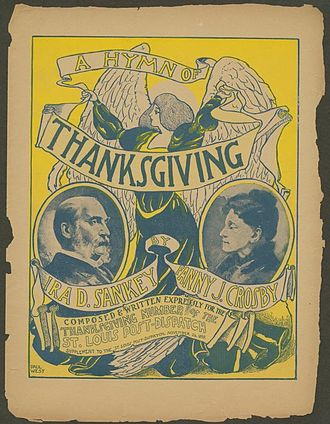 """A Hymn of Thanksgiving"" sheet music cover--November 26, 1899 A Hymn of Thanksgiving sheet music cover.jpg"