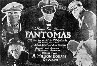 Fantômas (1920 serial) - Advertisement for the second episode (1921)