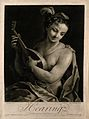 A female figure playing a lute; representing the sense of he Wellcome V0007673.jpg